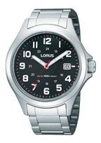 RXH01IX9 Lorus Staal bracelet zwart 100m WR