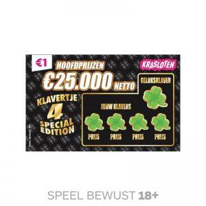 Kraslot klavertje 4 Special Edition