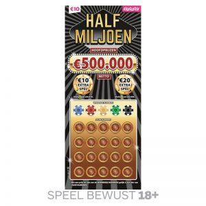 Kraslot Half Miljoen